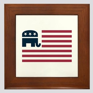 GOP Flag Framed Tile