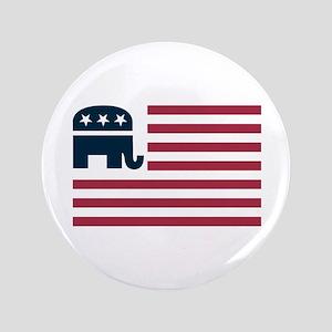 "GOP Flag 3.5"" Button"