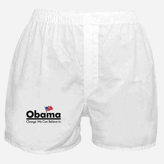 Obama: Believe In Change Boxer Shorts
