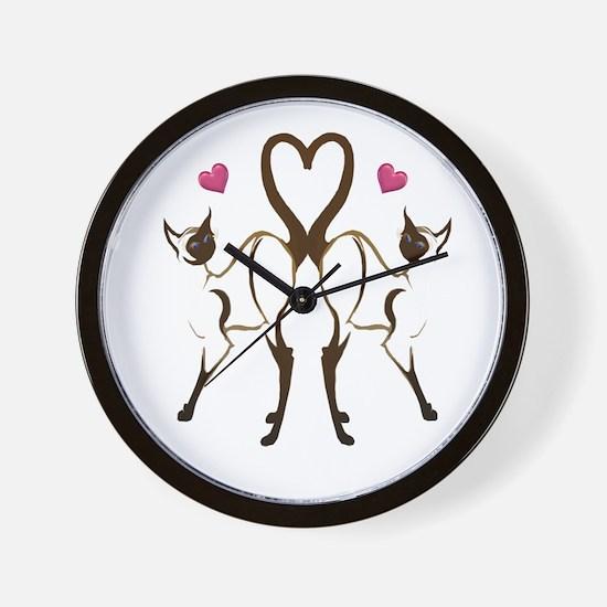 My Kitty Hearts Valentine Wall Clock