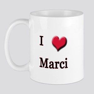 I Love (Heart) Marci Mug