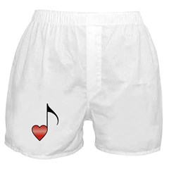 Valentine Music Note Heart Boxer Shorts