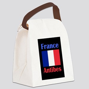 Antibes France Canvas Lunch Bag