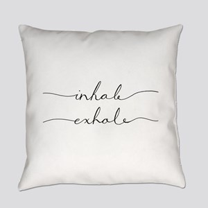 inhale, exhale Everyday Pillow