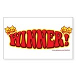 Winner! Rectangle Sticker