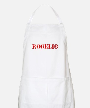 Rogelio Rustic Stencil Design Light Apron