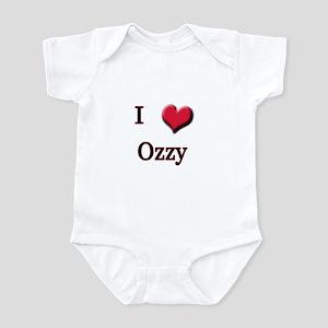 I Love (Heart) Ozzy Infant Bodysuit