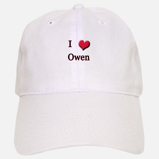 I Love (Heart) Owen Baseball Baseball Cap