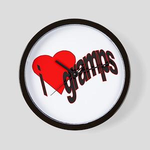 I Heart Gramps Wall Clock