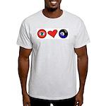 I Love 8 Ball Ash Grey T-Shirt