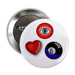 I Love 8 Ball Button
