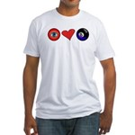 I Love 8 Ball Fitted T-Shirt