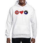 I Love 8 Ball Hooded Sweatshirt