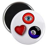I Love 8 Ball Magnet