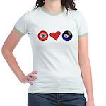 I Love 8 Ball Jr. Ringer T-Shirt