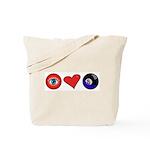 I Love 8 Ball Tote Bag