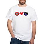 I Love 8 Ball White T-Shirt