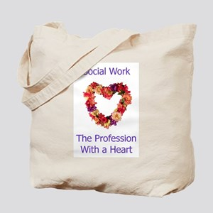 Social Work Heart Tote Bag