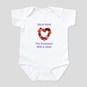 Social Work Heart Infant Bodysuit