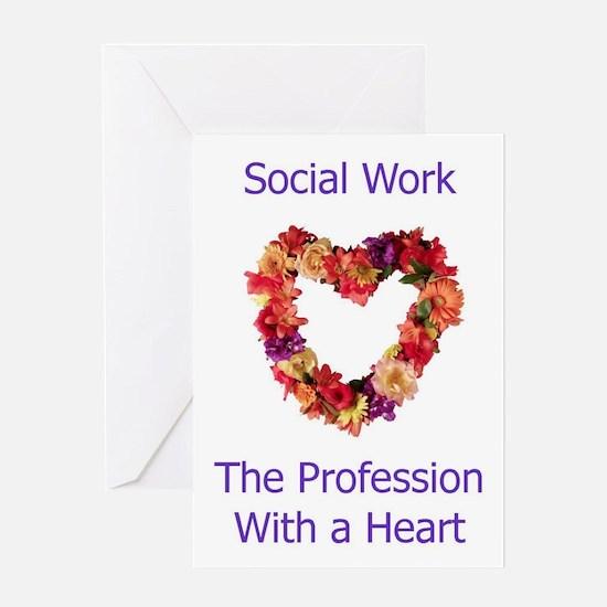 Social Work Heart Greeting Card