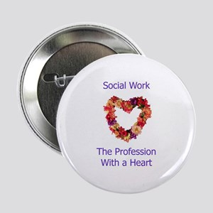 "Social Work Heart 2.25"" Button"