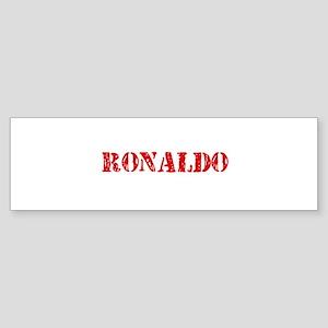 Ronaldo Rustic Stencil Design Bumper Sticker
