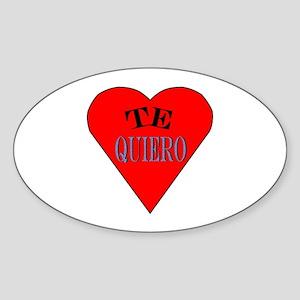 Te Quiero Oval Sticker