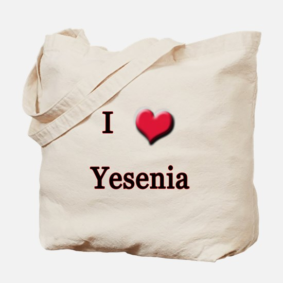 I Love (Heart) Yensenia Tote Bag