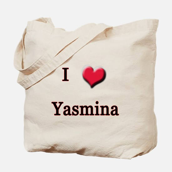 I Love (Heart) Yasmina Tote Bag