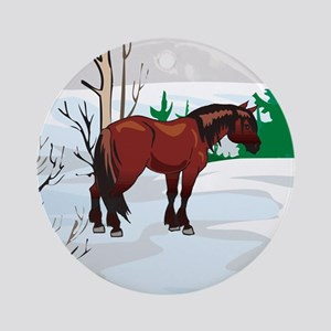 Clydesdale Christmas Ornament (Round)