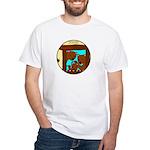 Papa Bear Family White T-Shirt