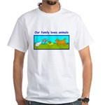 Animal Lovers Gift Idea Family T-Shirt