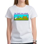 Animal Lovers Clothing Family Women's T-Shirt