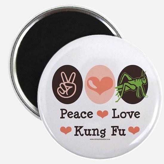 "Peace Love Grasshopper Kung Fu 2.25"" Magnet (10 pa"