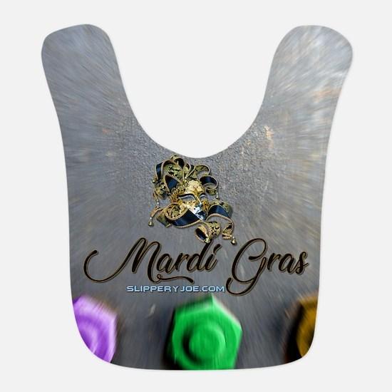 Cool Mardi gras men Polyester Baby Bib