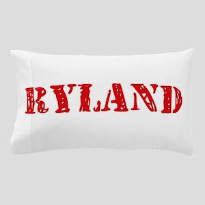 Ryland Rustic Stencil Design Pillow Case