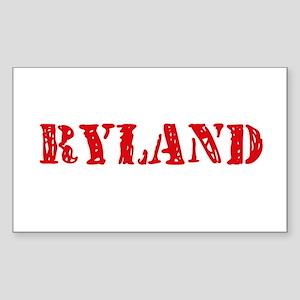 Ryland Rustic Stencil Design Sticker