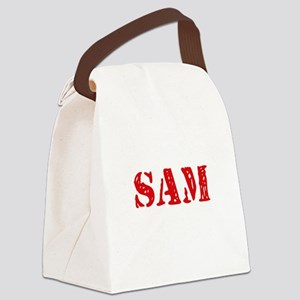 Sam Rustic Stencil Design Canvas Lunch Bag