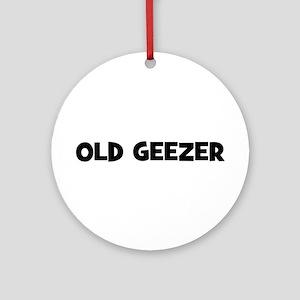 Old Geezer Ornament (Round)