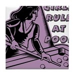 Girls Rule at Pool Tile Coaster