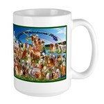 Golden Rainbow Bridge Large Mug