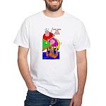 Less Poke More Stroke White T-Shirt