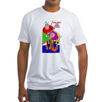 Less Poke More Stroke Fitted T-Shirt
