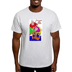 Less Poke More Stroke Ash Grey T-Shirt
