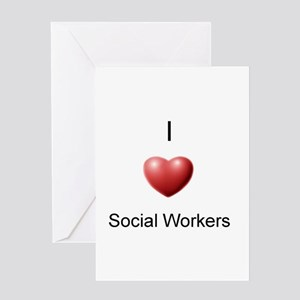 I Heart Social Workers Greeting Card