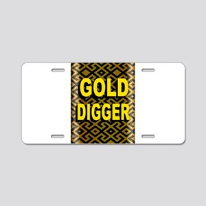 GOLD DIGGER Aluminum License Plate