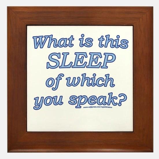 Funny Sleep Joke Framed Tile