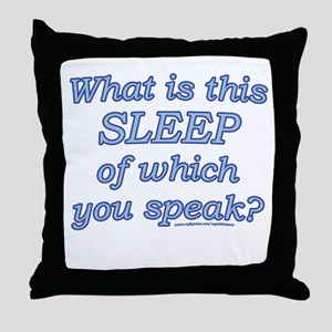 Funny Sleep Joke Throw Pillow