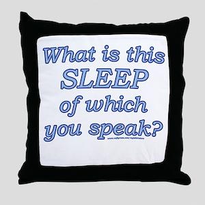 Funny Sleep Joke Throw Pillow