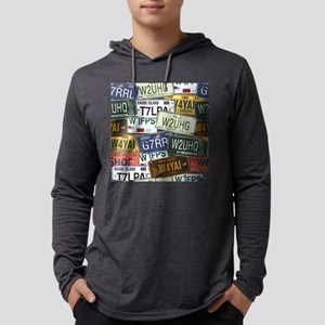 Vintage License Plates Long Sleeve T-Shirt